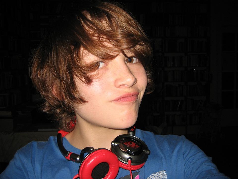 Boy, Music, Mood, Headphones, Teenager, Joy