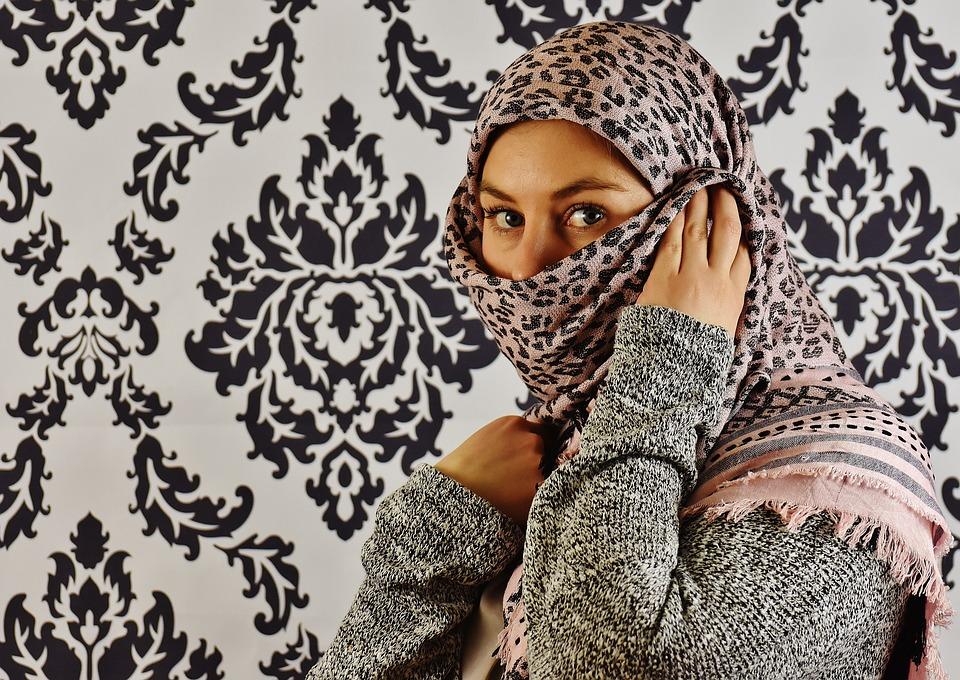 Woman, Headscarf, Face, Head, Beautiful, Human, Person