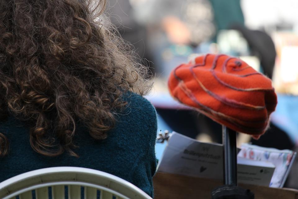 Headwear, Cap, Hair, Lure, Head Of Curls, Flea Market