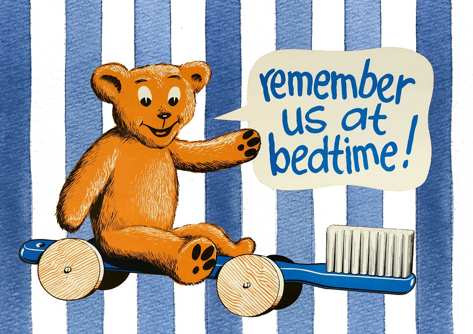 Bedtime, Kids, Girls, Pink, Tooth, Health, Toothbrush