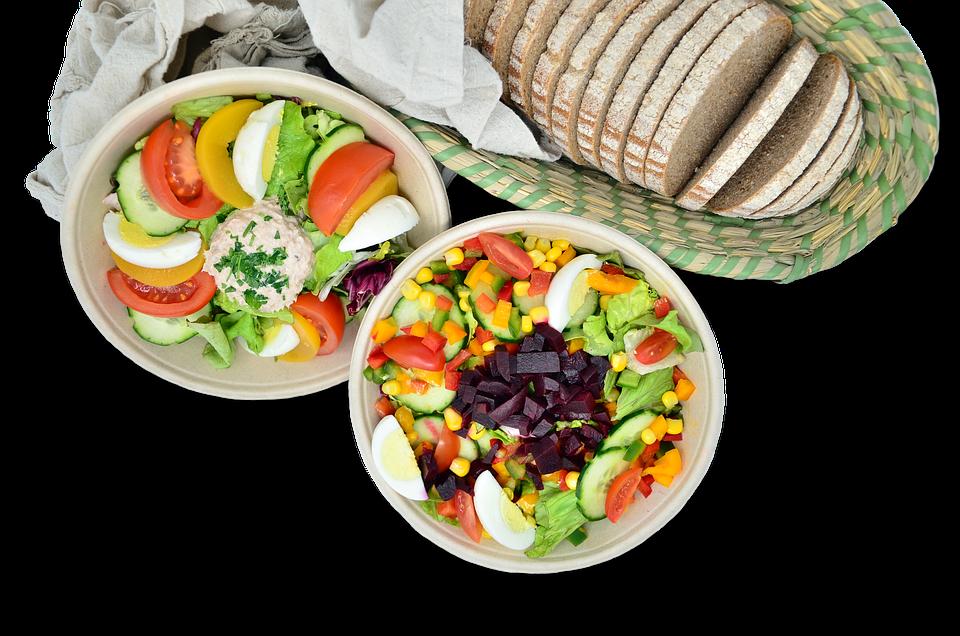 Salad, Bread, Food, Eat, Fresh, Health, Nutrition, Diet