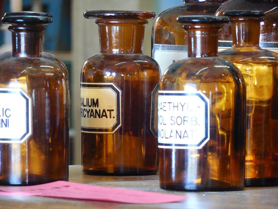 Apothecary, Bottles, Medicine, Medical, Health, Glass