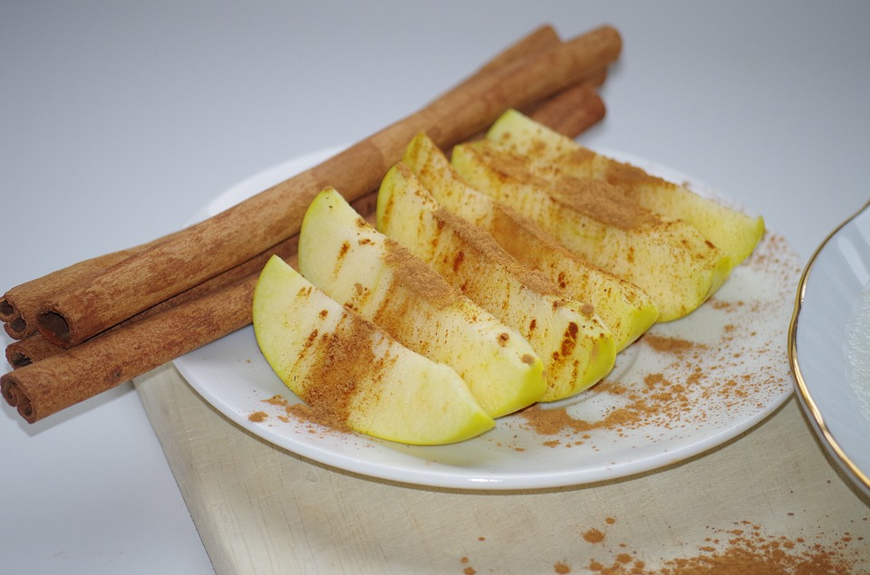 Apple, Cinnamon, Plate, Health, Fruit