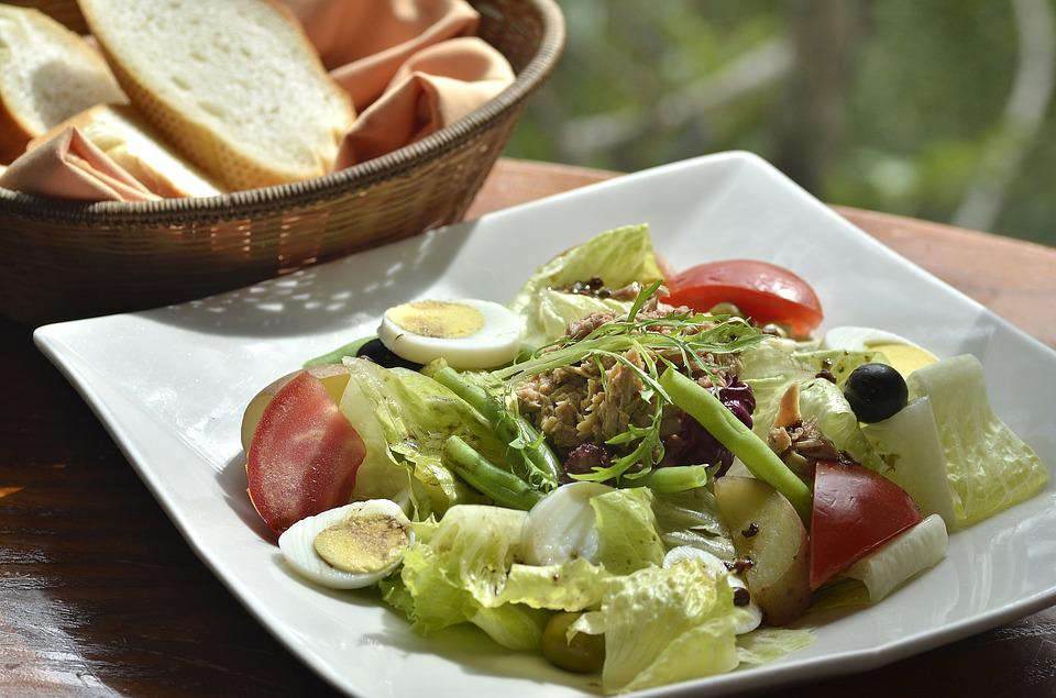 Food, Salad, Bread, Health, Delicious