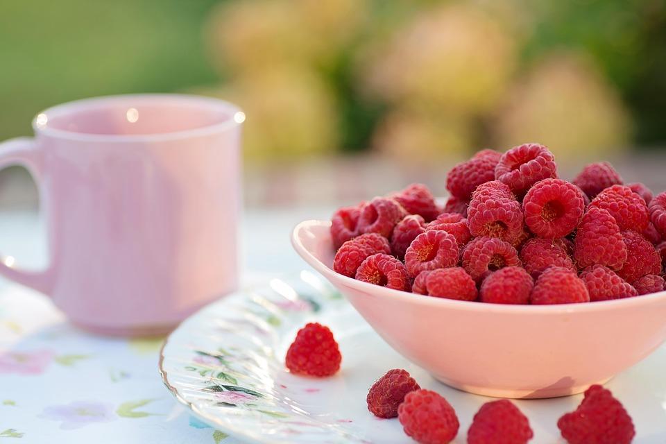 Raspberries, Breakfast, Fruit, Healthy, Dessert, Sweet