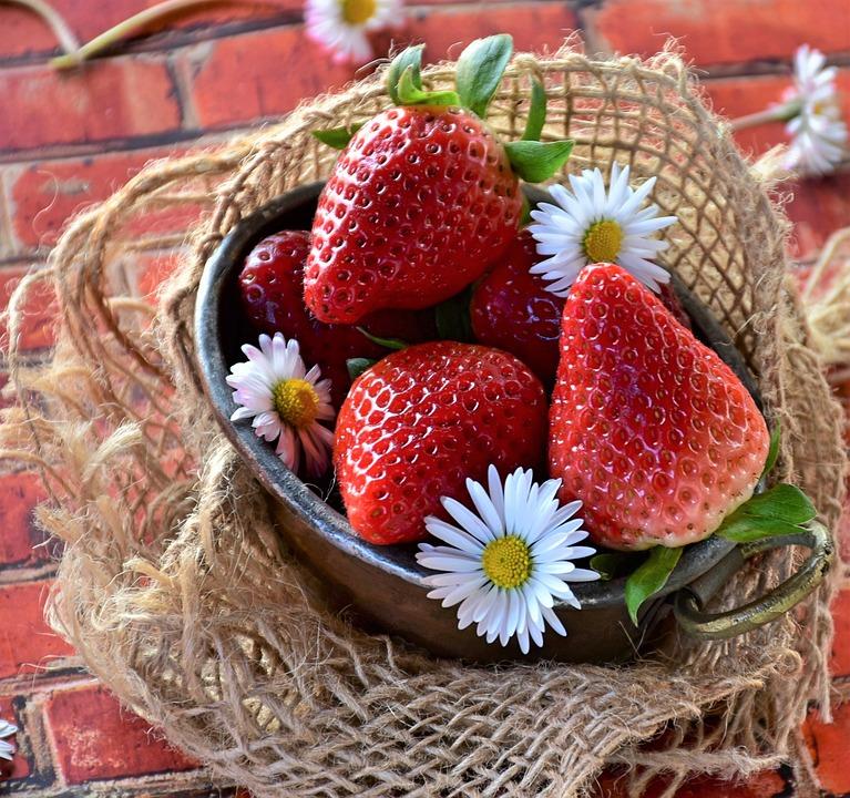 Strawberries, Fruit, Food, Healthy, Berry, Diet, Detox