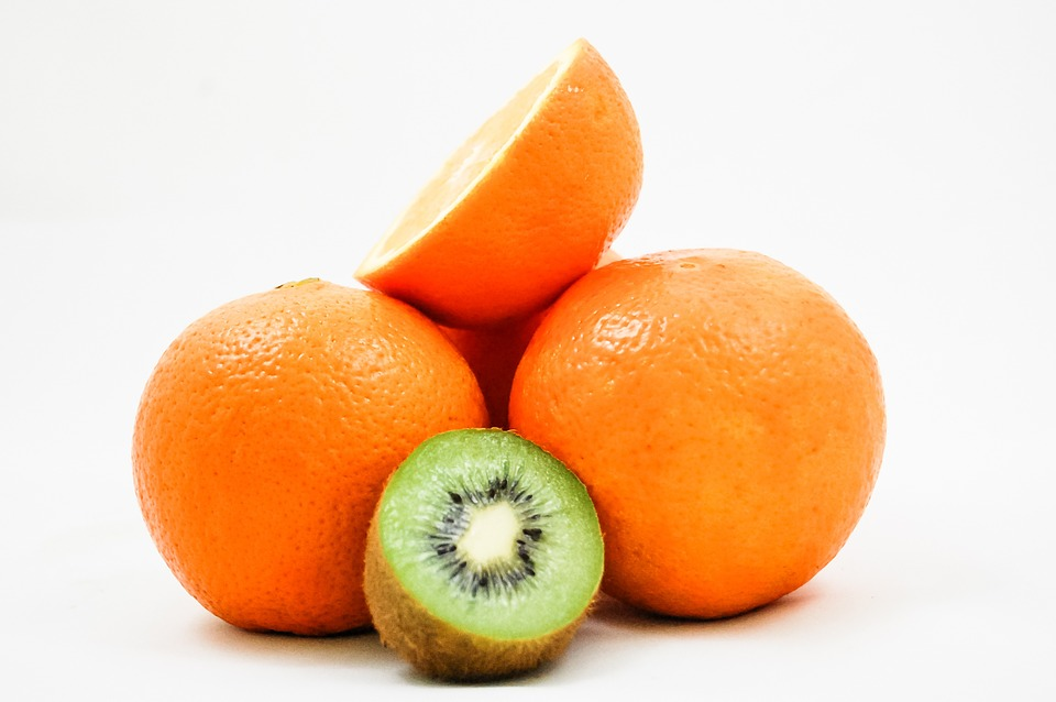 Kiwi, Oranges, Fruit, Vitamins, Healthy Eating, Half