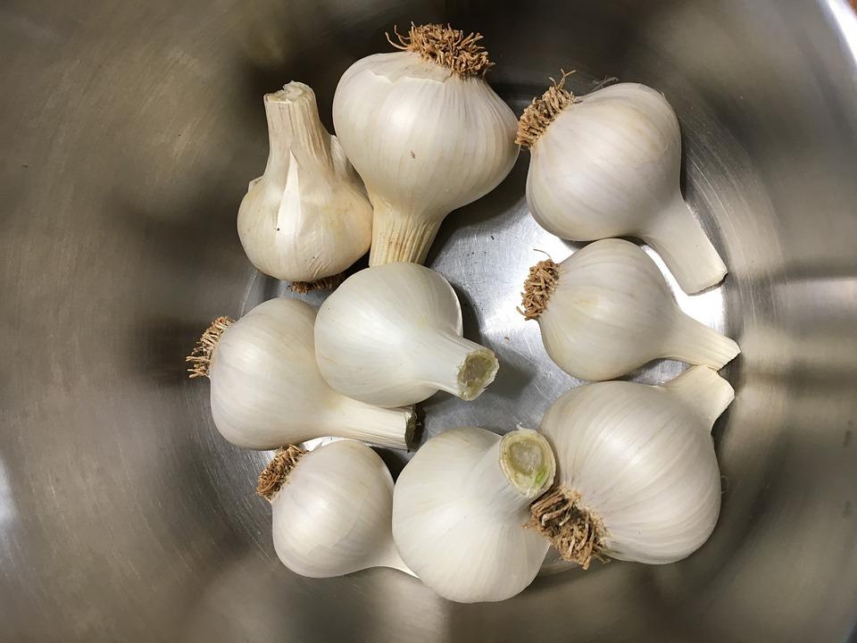 Garlic, Food, Vegetables, Healthy, Kitchen, Fresh