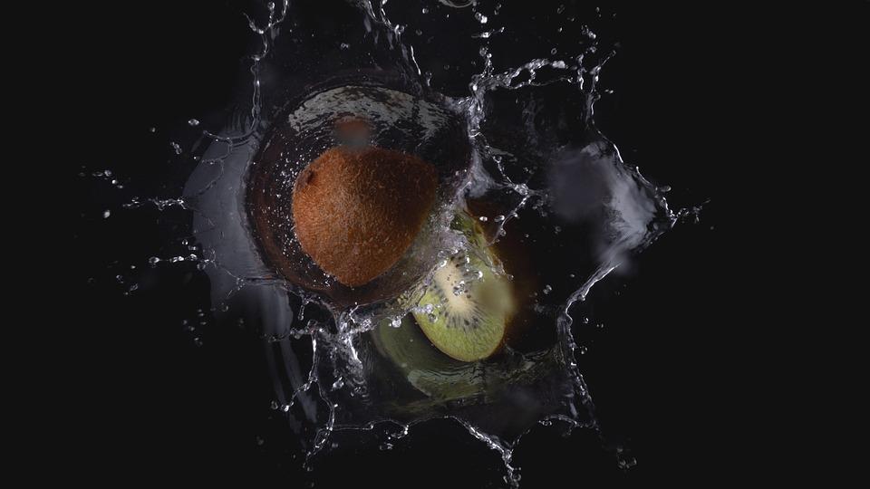 Kiwi, Water, Fruit, Fresh, Green, Food, Diet, Healthy