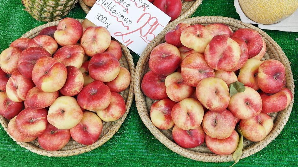 Nectarines, Vineyard Nectarines, Fruit, Healthy, Summer