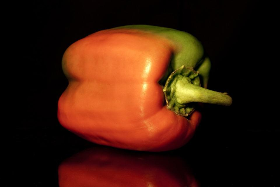 Paprika, Vegetables, Food, Healthy, Orange, Green