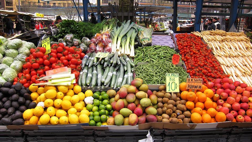 Fresh, Vegetables, Market, Food, Healthy, Green, Diet