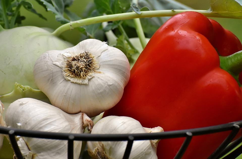 Vegetables, Kohlrabi, Paprika, Garlic, Healthy, Food