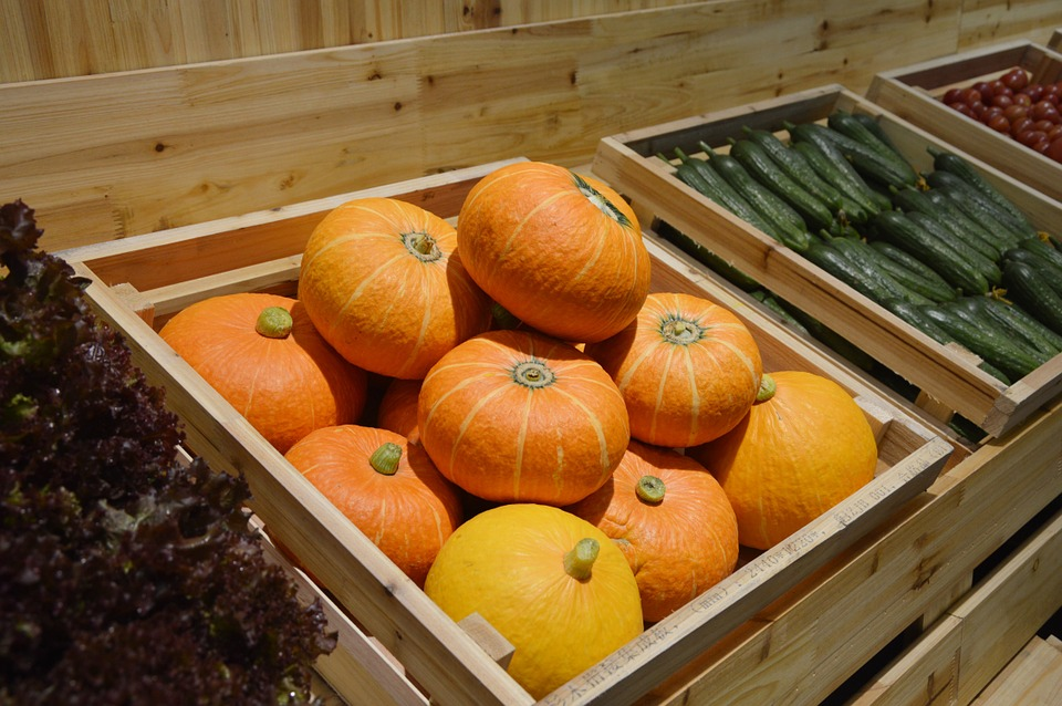 Pumpkins, Market, Grocery, Food, Vegetables, Healthy
