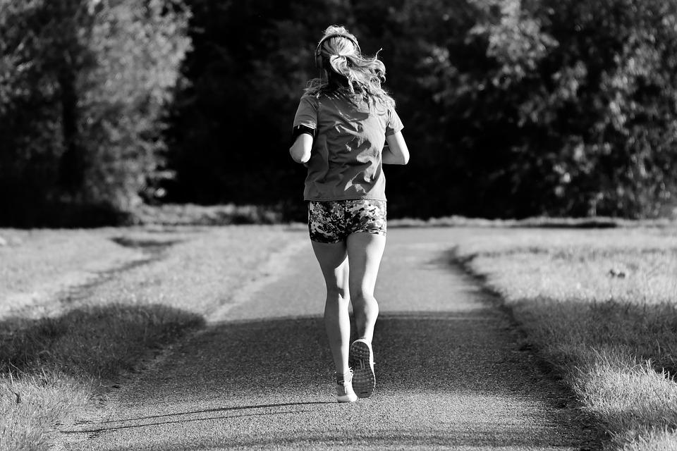 Girl, Running, Motion, Physical Exercise, Healthy