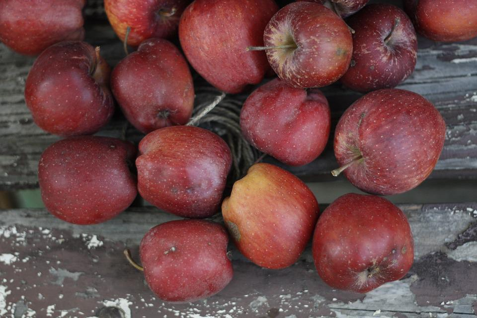 Apples, Autumn, Fruit, Healthy, Red, Organic, Harvest