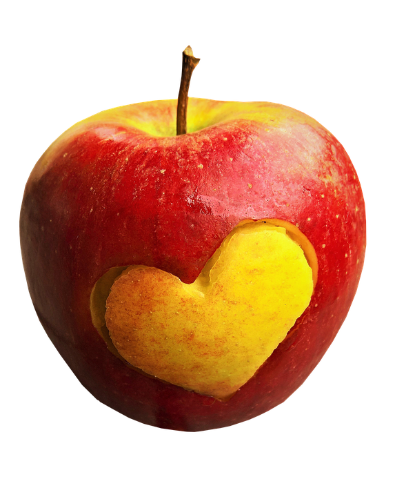 Apple, Fruit, Heart, Food, Healthy, Fresh, Organic, Red