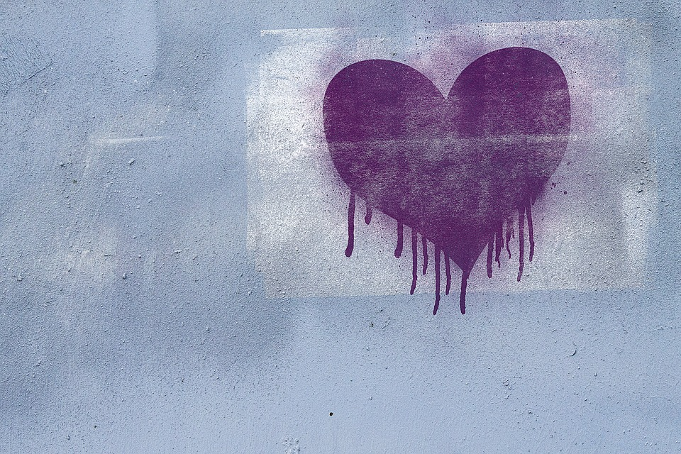 Graffiti, Background, Grunge, Texture, Heart