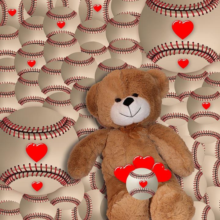 free photo heart background teddy bear background romantic max pixel