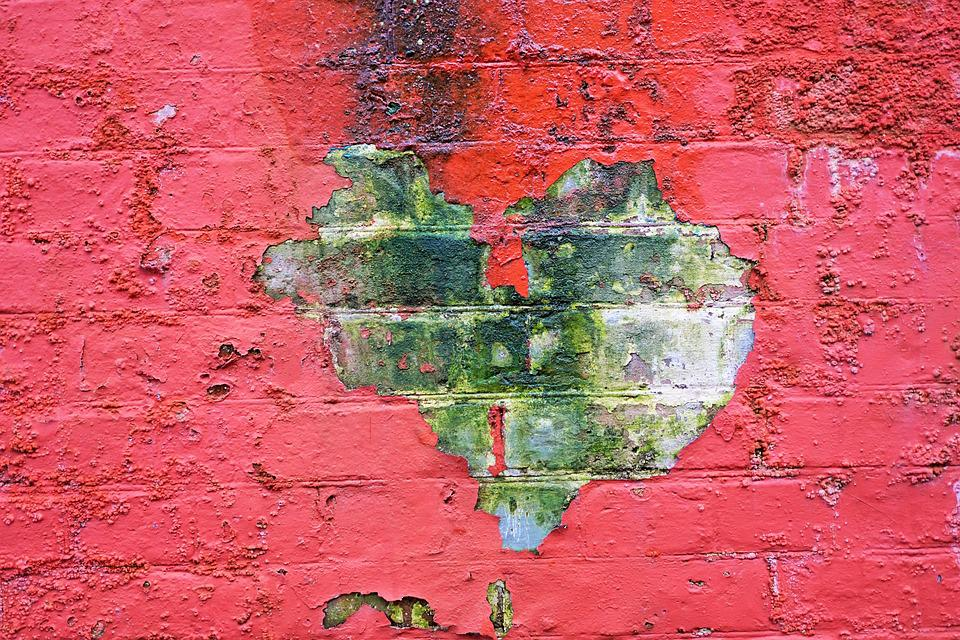 Heart, Red, Brick, Old, Building, Victoria, Bc