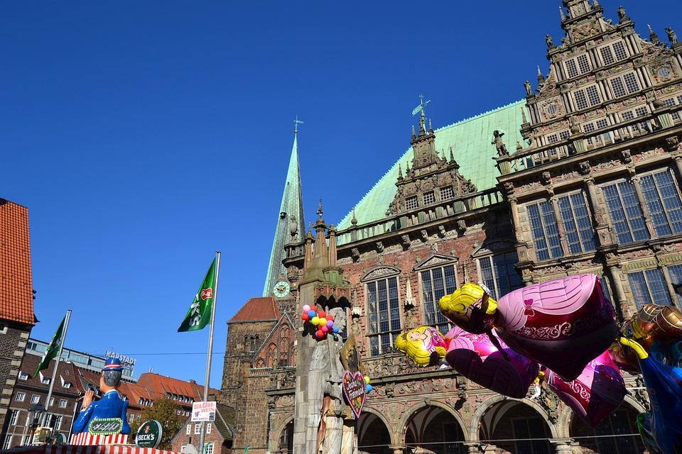 Bremen, Free Market, Buden, Sun, Gingerbread, Heart