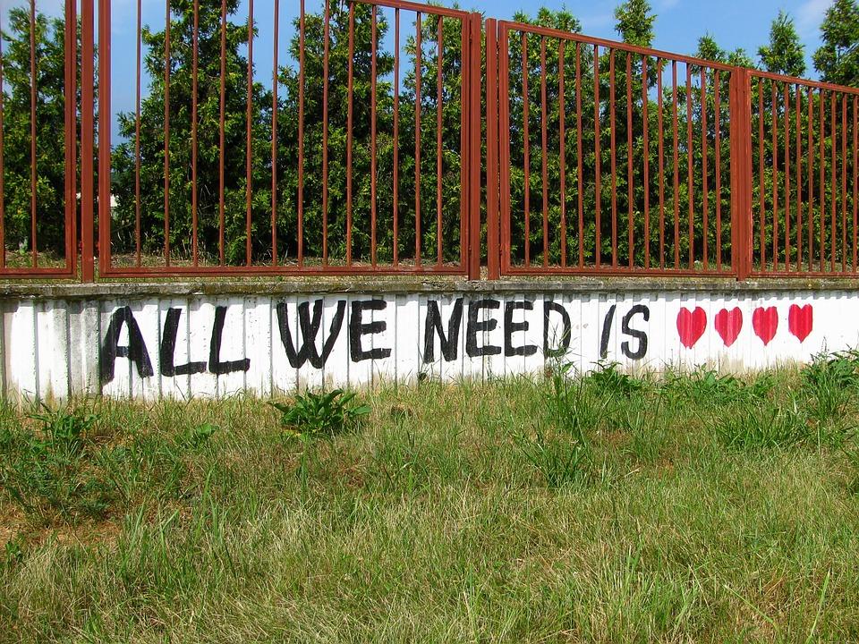 Graffiti, Love, Heart, Colors, Fence, Czech, Brno