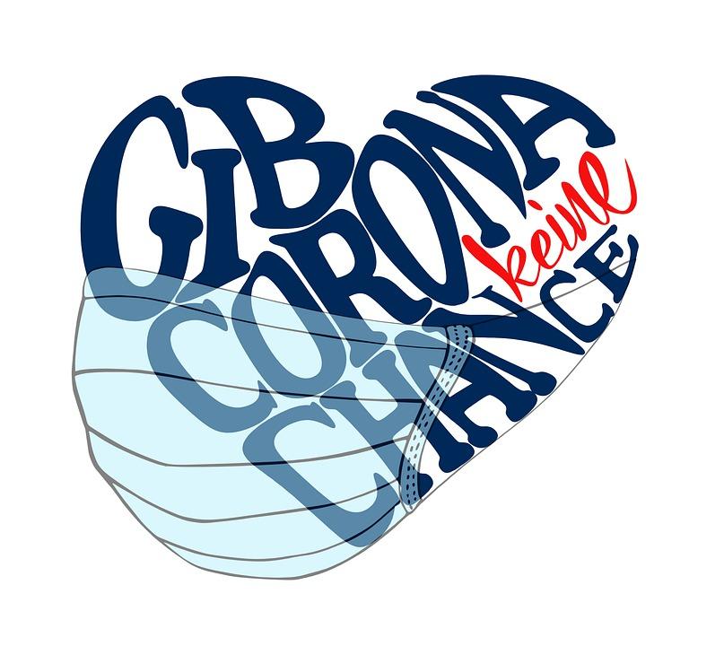 Give Corona No Chance, Button, Heart