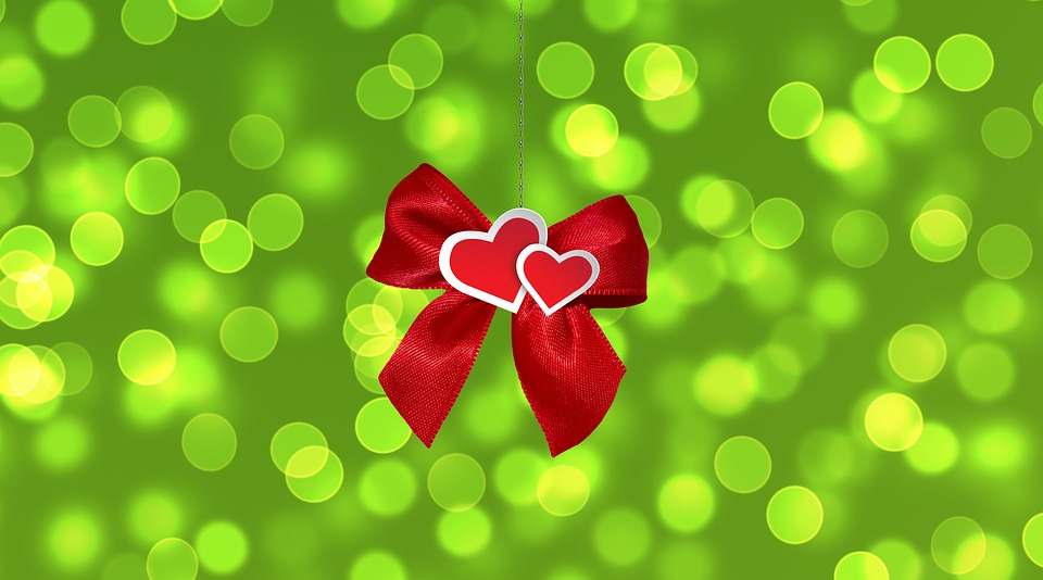 Loop, Heart, Gift, Bokeh, Pair, Christmas, Give, Love