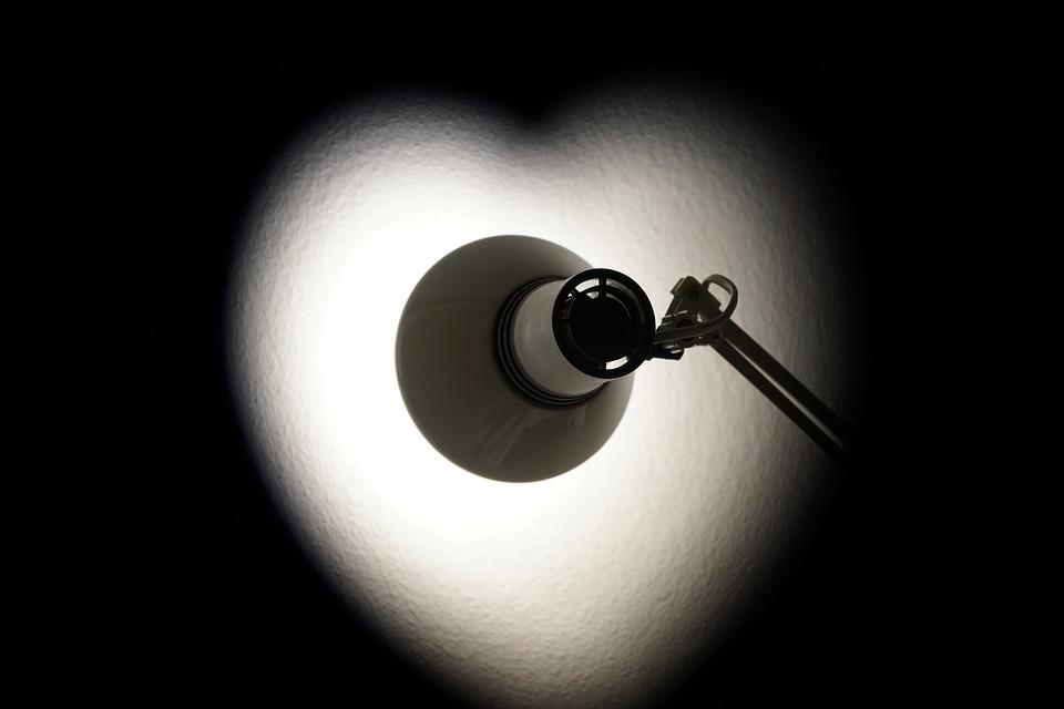 Lamp, Spot, Light, Heart