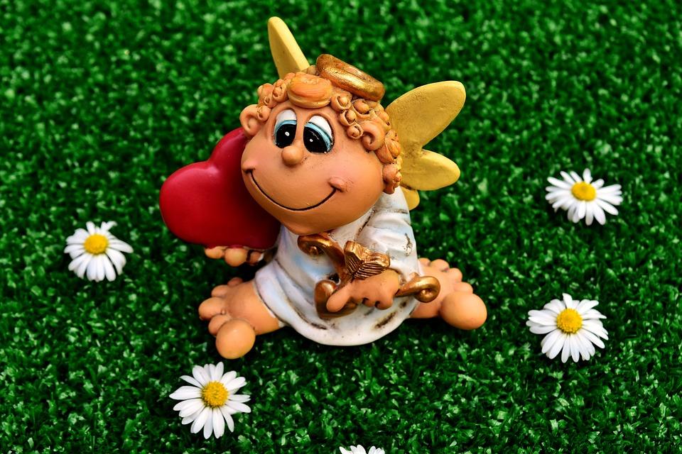 Angel, Heart, Guardian Angel, Figure, Cute, Love, Wing