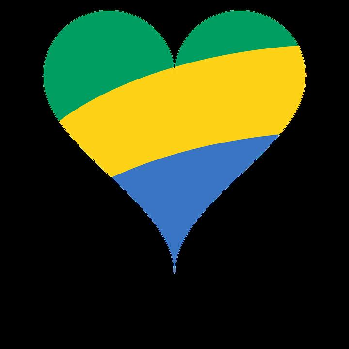 Heart, Love, Flag, Gabon