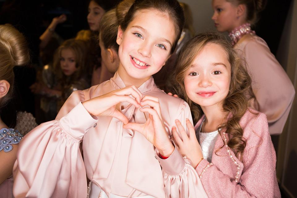 Heart, Love, Kids, Girls, Fashion, Podium