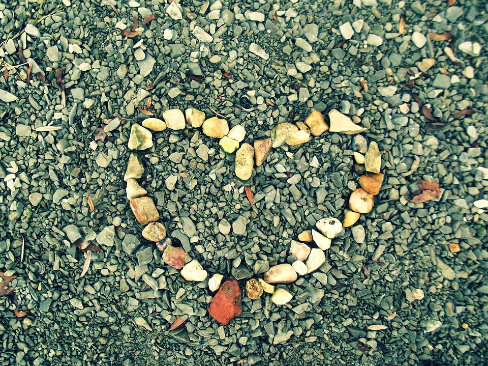 Heart, Love, Happiness, Romantic, Heart Of Stone, Bank