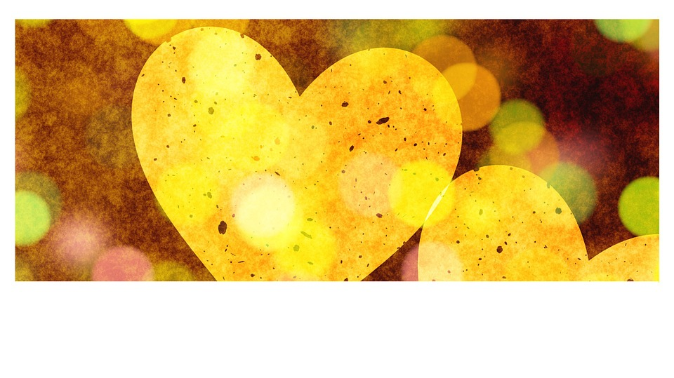 Heart, Love, Greeting Card, Luck, Yellow, Abstract