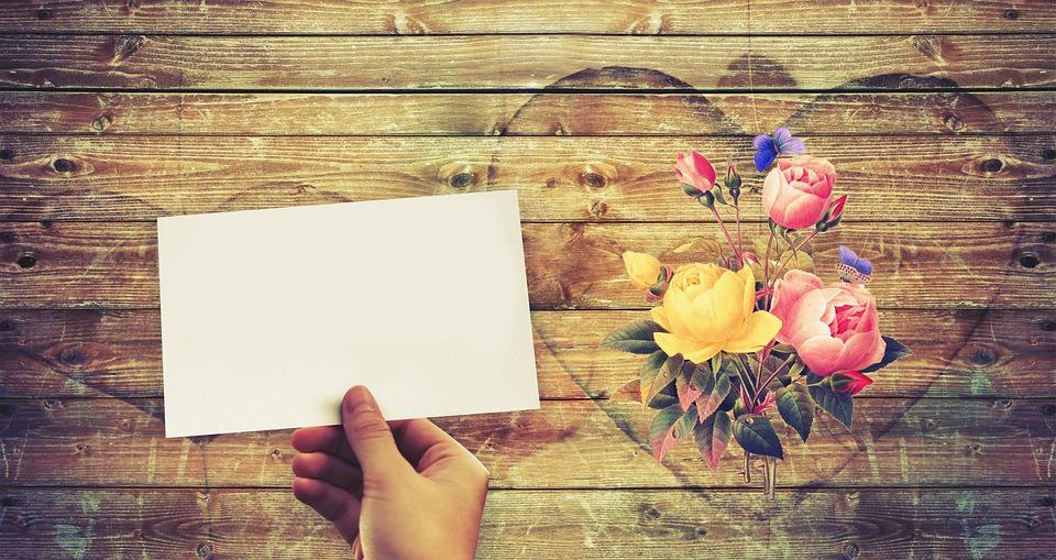 Mockup, List, Hand, Heart, Flowers, Boards, Sadness