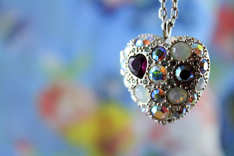 Heart, Love, Love Heart, Jewel, Necklace, Ices