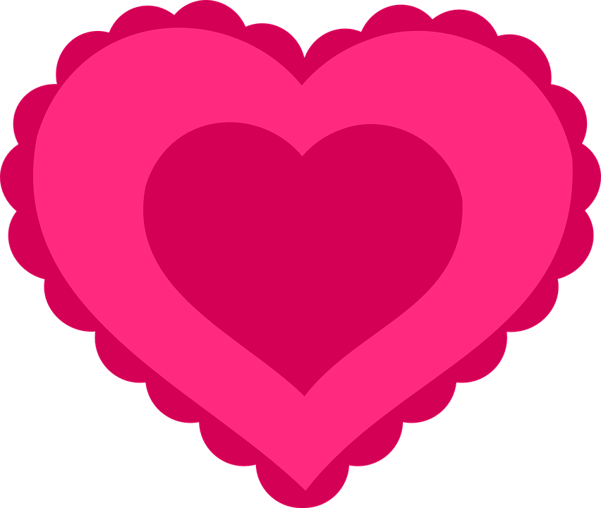 Heart, Love, Pink, Valentine, Lace, Romance, Symbol