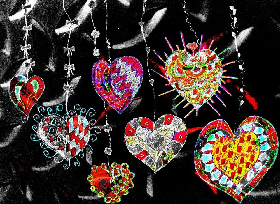 Heart, Painted, Digital, Romantic, Luck, Love