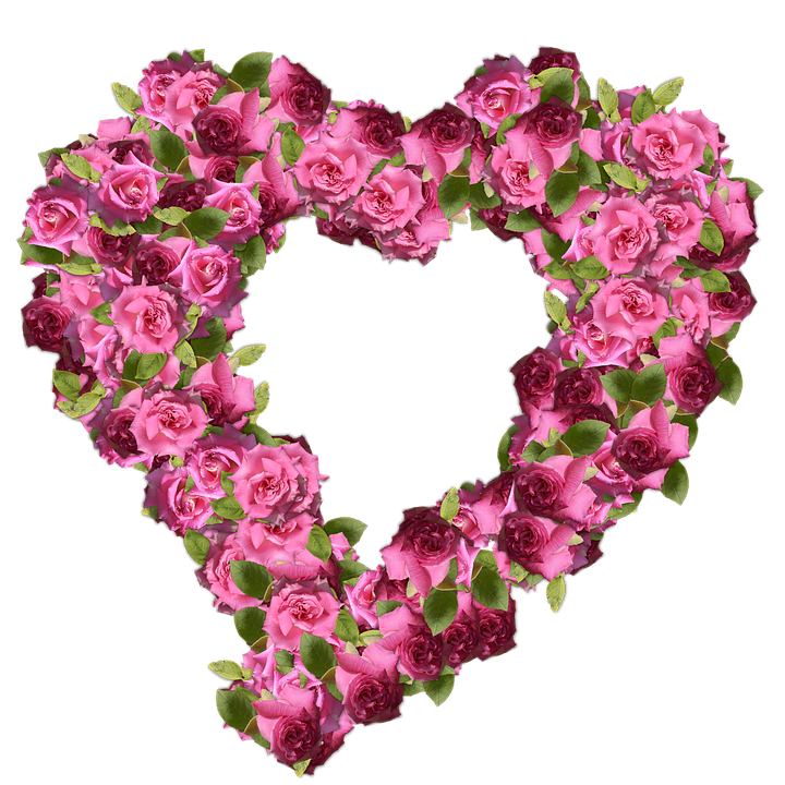 Roses, Heart, Romance, Flower, Love, Decoration, Floral