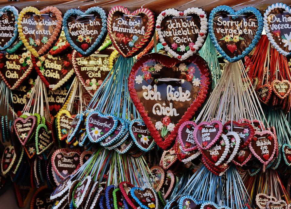 Oktoberfest, Sales Stand, Gingerbread, Heart