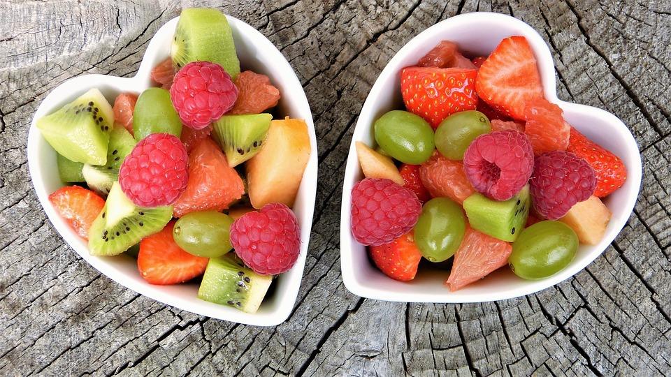 Fresh Fruits, Bowls, Fruit Bowls, Heart Shape