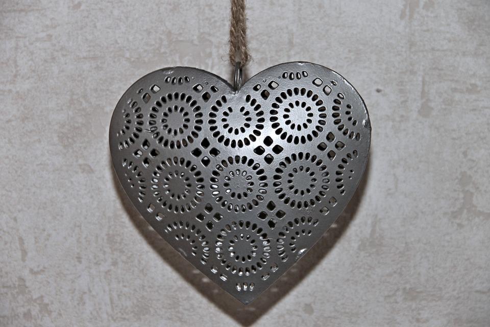 Heart, Metal, Decoration, Metallic, Heart Shaped