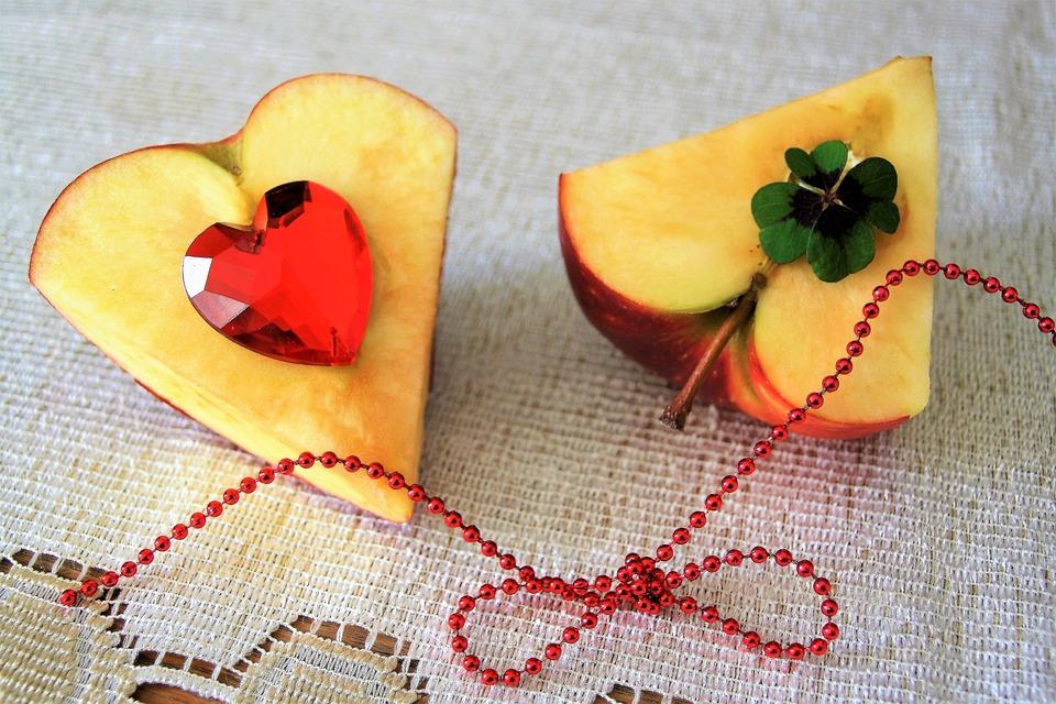 Heart, Valentine's Day, Love, Closeup, Fruit, Para