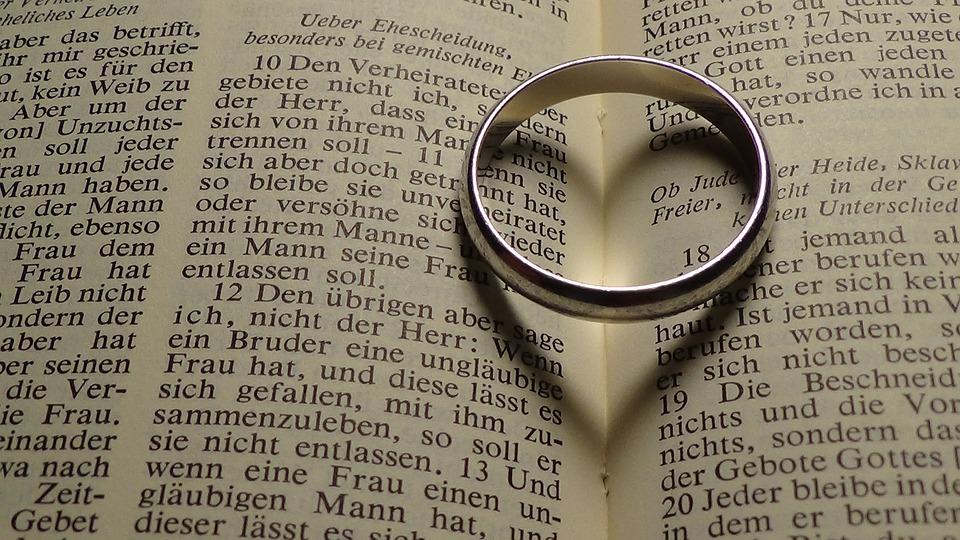 Ring, Heart, Bible, Wedding Ring, Wedding, Marriage