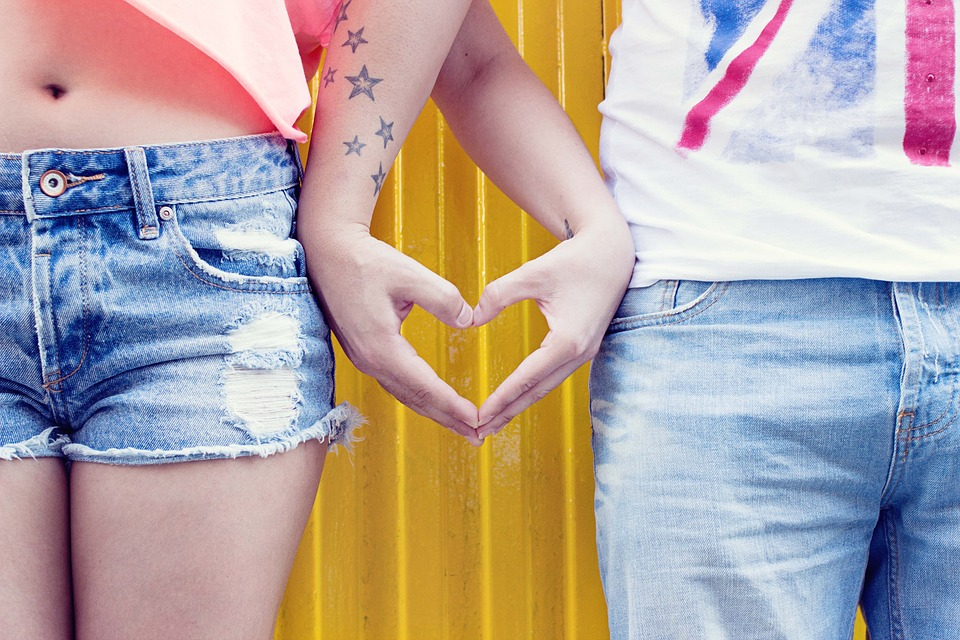 Hands, Love, People, Heart, Jeans, Young, Tattoo
