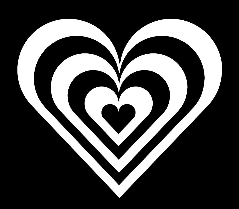 Heart, Stripes, Zebra