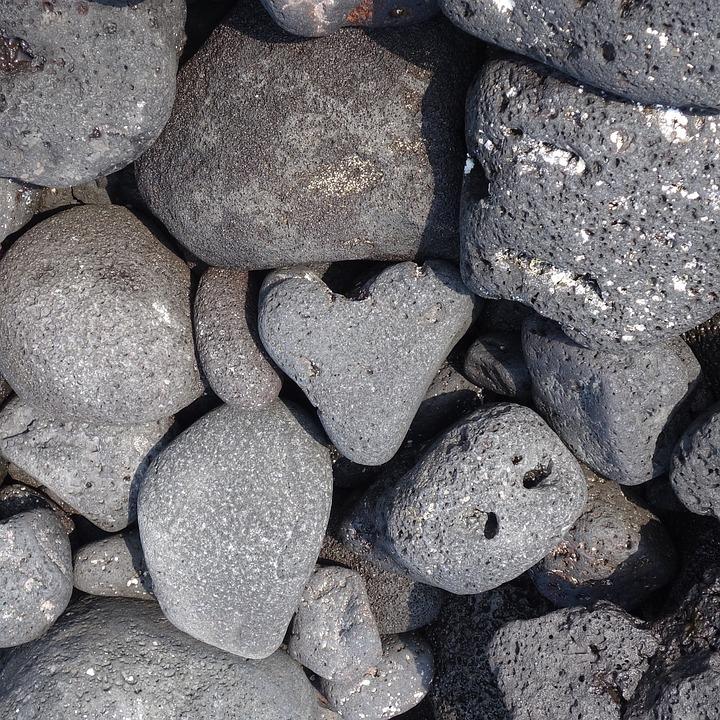 Rocks, Kona, Hi, Heart, Heart-shaped, Grey, Gray, Beach