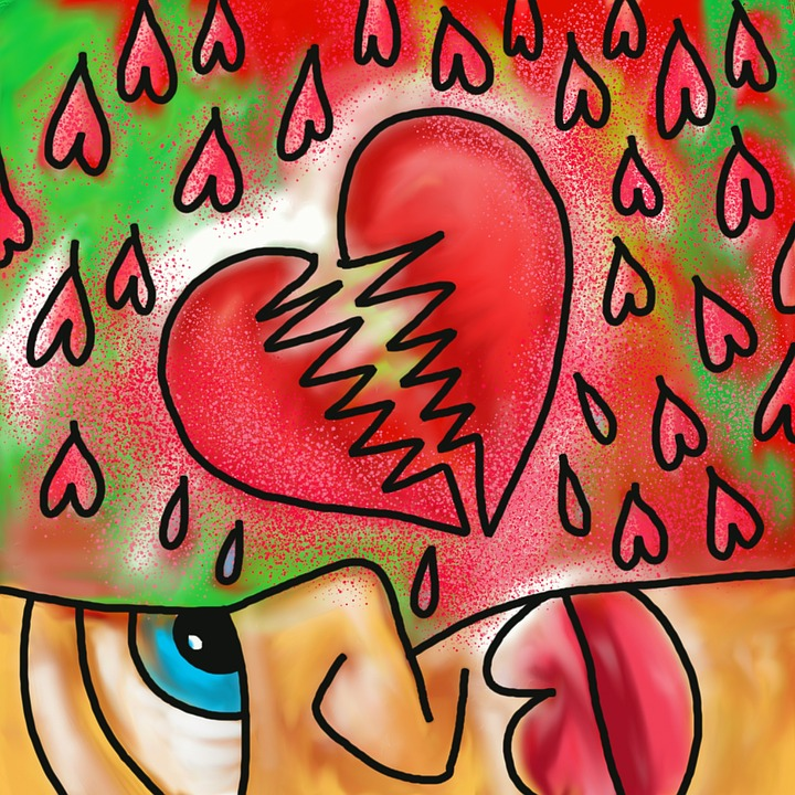 Concept, Conceptual, Painting, Broken Heart, Hearts