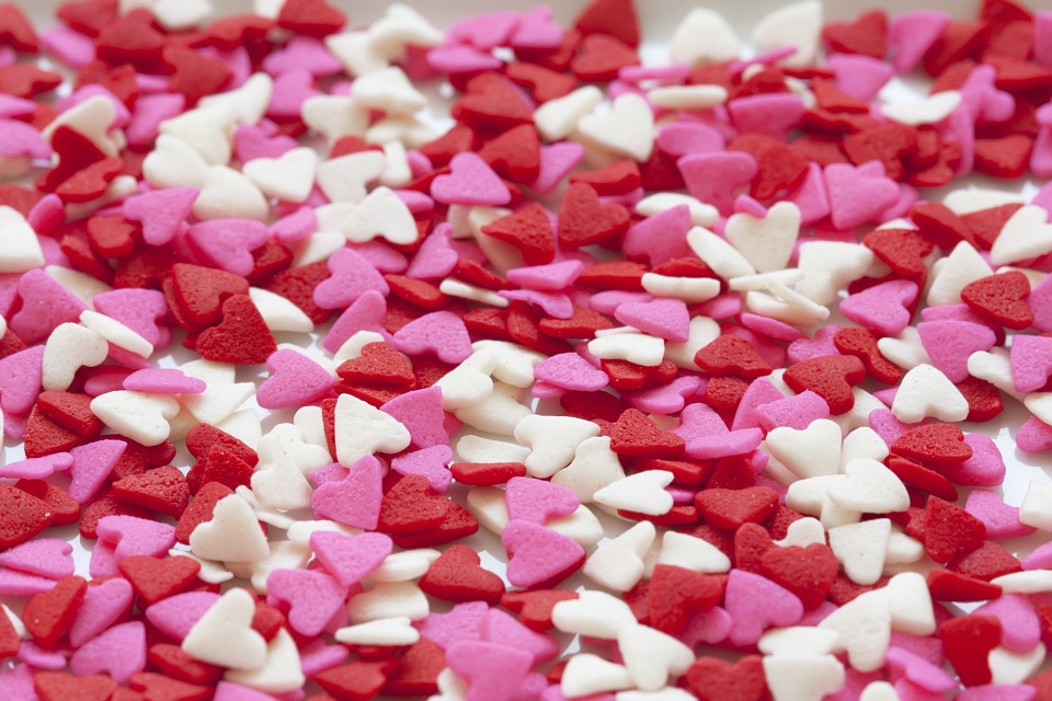 Hearts, Background, Red, Pink, White, Love, Valentine
