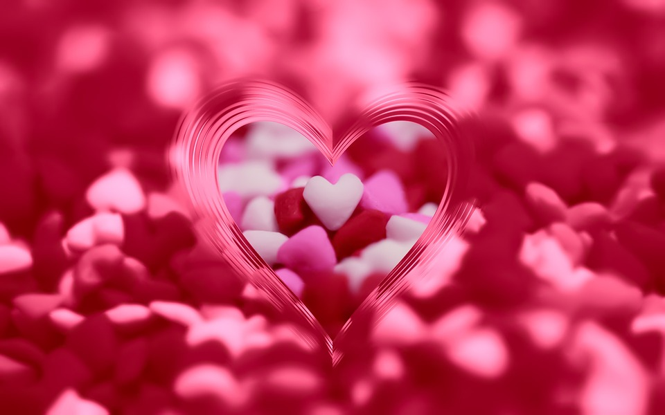 Free photo Hearts Valentines Day Background Romantic Card - Max Pixel